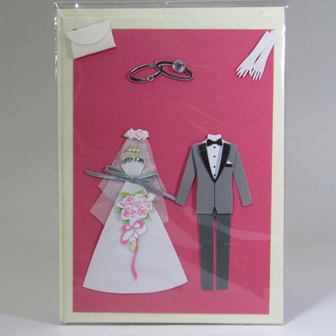 Deluxe, blank, 3D wedding card,by Ann Henrick - Parade Handmade