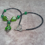 Elegant Emerald Green Necklace, By Lapanda Designs - Parade Handmade