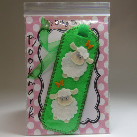 Fab Lime Green Felt Sheep Bookmark, By Ditsy Designs - Parade Handmade