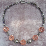 Faceted Peach Glam Glass Necklace, By Lapanda Designs - Parade Handmade
