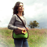 Felt Handbag With Filagree & Floral Brooch Detail, By JaDa Crafts Ireland - Parade Handmade