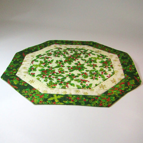 "Festive Octagon Table Centre, By 'Sew What's New"", Bernadette Walsh - Parade Handmade"