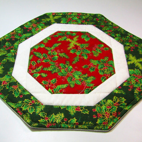 Festive, Octagon Table Mat, By 'Sew What's New', Bernnadette Walsh - Parade Handmade