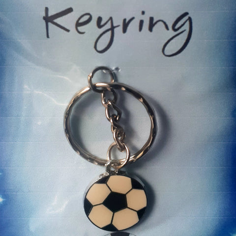 Football Charm Keyring, By Ditsy Designs - Parade Handmade