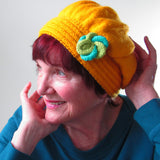 Funky Lady Hat In Bright Yellow, By Jo's Knits - Parade Handmade