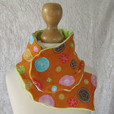 Funky Orange Summer Scarf With Floral Design, By JaDa Crafts Ireland - Parade Handmade