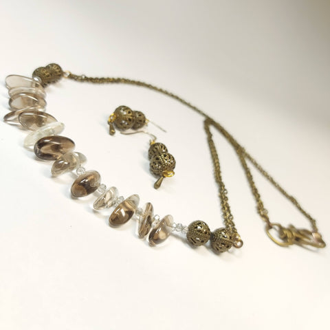 Gemstone Irish Bog Necklace and Earrings, By Lapanda - Parade Handmade