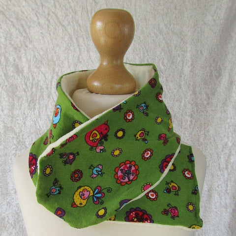 Green Scarf With Upside Down Bird Pattern, By JaDa Crafts Ireland - Parade Handmade