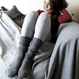 Grey Handknitted Socks For Ladies, By Jo's Knits - Parade Handmade