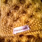 Hand Knit Neck warmer in mustard yellow honeycomb look, by Shoreline - Parade Handmade