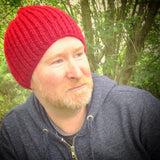 Handknit Ribbed RA7 Beanie Hat for Men, By R.Coen - Parade Handmade