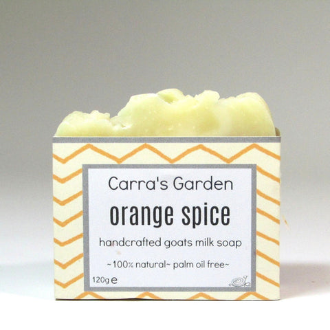 Handmade,  Orange Spice Goat's Milk Soap, by Carra's Garden - Parade Handmade
