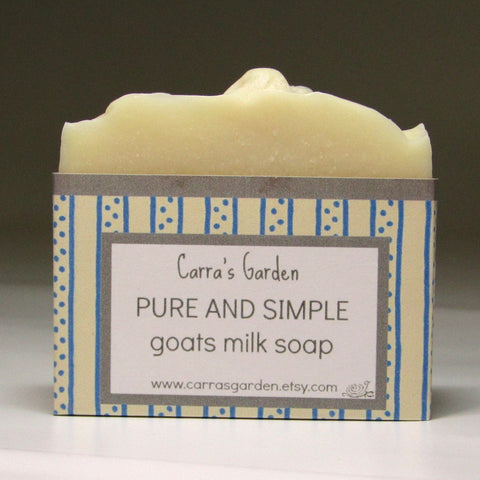 Handmade, Pure and Simple Goat's Milk Soap, by Carra's Garden - Parade Handmade