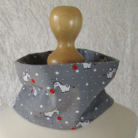 Headband/Scarf. Kids. Grey With Donkeys, By JaDa Crafts Ireland - Parade Handmade