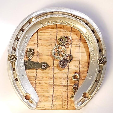 Horseshoe Fairy Door With Owl, By Liffey Forge - Parade Handmade