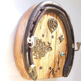 Horseshoe Keyrack Fairy Door With Mushroom, By Liffey Forge - Parade Handmade
