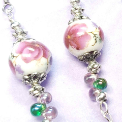 Dreamy Delights One of A Kind Quirky Earrings Floral Design, by Lapanda Designs - Parade Handmade