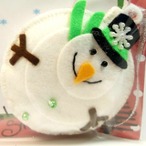 Handmade Snowman Christmas Tree Ornament, By Ditsy Designs. Parade-Handmade