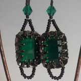 Green Vintage Style Earrings, By Lapanda Designs - Parade Handmade