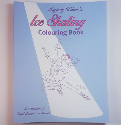 Ice Skating Colouring Book, By Marjory Wilson - Parade Handmade