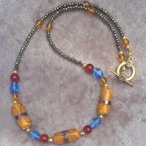 Indian Glass Regal Style Necklace, By Lapanda Designs - Parade Handmade