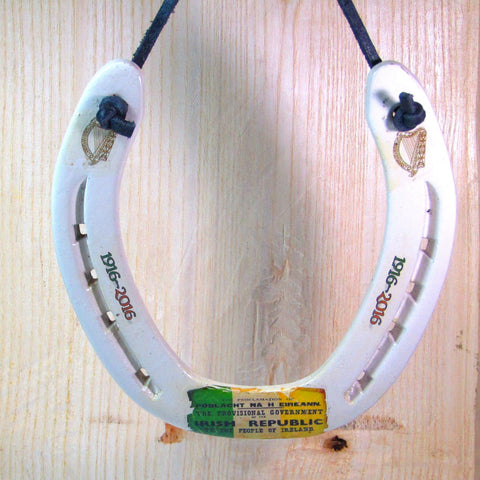 Irish Republic Centenary, Decorative Horseshoe, By Liffey Forge - Parade Handmade
