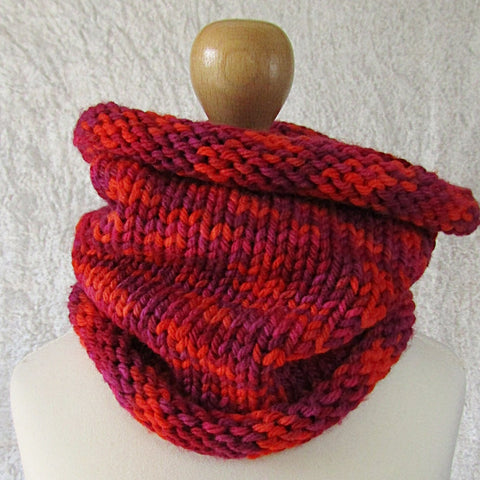 Kids Scarf, In Red, Purple, Orange & Pink, By JaDa Crafts Ireland - Parade Handmade