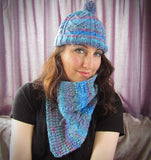 Ladies Scarf Blue, Turquoise, Pink & Red, By Bridie Murray - Parade Handmade