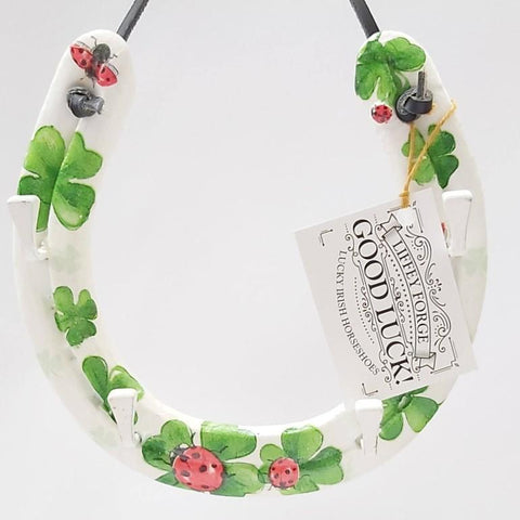 Ladybird In Clover, Recycled Horseshoe, By Liffey Forge - Parade Handmade
