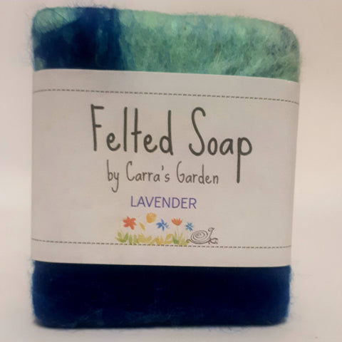 Lavender Felted Goat's Milk Soap, By Carra's Garden - Parade Handmade