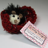 Little Black Hedgehog with his Leaf, By Ditsy Designs - Parade Handmade