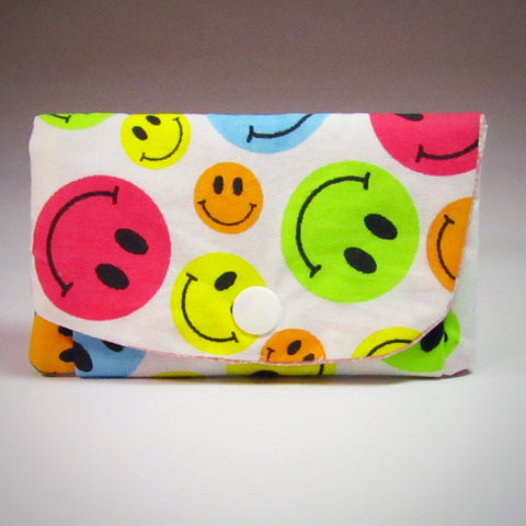 Little Coin Purse With Happy Faces, By JaDa Crafts Ireland - Parade Handmade