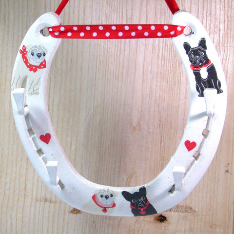 Lucky Horseshoe Key Holder with cool dogs, By Liffey Forge - Parade Handmade