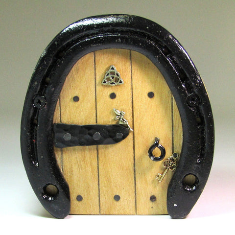 Magical, handmade, horseshoe, Fairy Door, by Liffey Forge - Parade Handmade