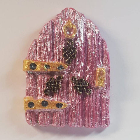 Micro Mini Celtic Fairy Door In Pink, By Ditsy Designs - Parade Handmade