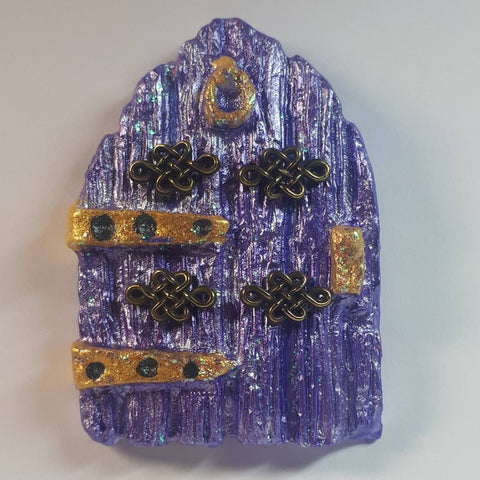 Micro Mini Celtic Fairy Door In Purple, By Ditsy Designs - Parade Handmade
