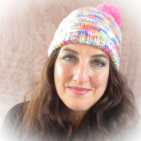 Multi-Coloured Bobble Hat, By Shoreline - Parade Handmade