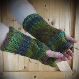 Multi-col Handknit Aran Wrist Warmers, Mens XL, By Bridie Murray - Parade Handmade