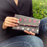 Neat Little Grey Polka-dot Purse, By Shoreline - Parade Handmade