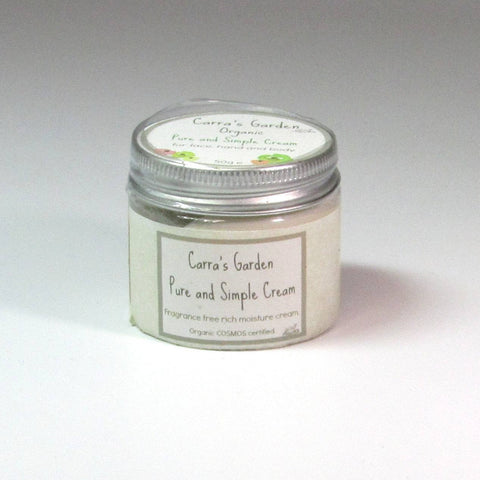 Organic Moisture Cream, Pure and Simple, By Carra's Garden - Parade Handmade