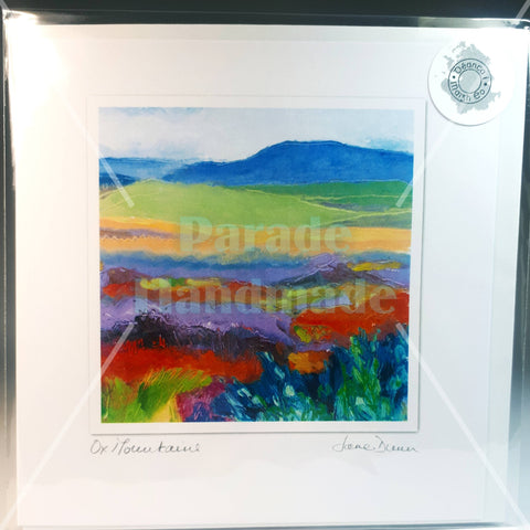 Ox Mountains Co. Mayo Art Card, by Jane Dunn - Parade Handmade