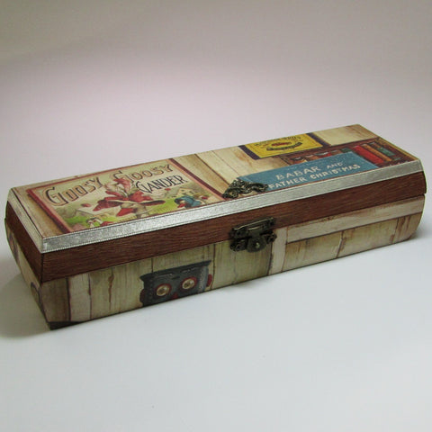 Pencil Box. Vintage Childhood Theme, By Kira Szentivanyi - Parade Handmade