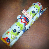 Pencil Roll With Service Vehicle Pattern, By JaDa Crafts Ireland - Parade Handmade