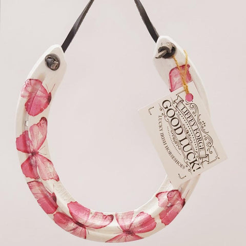 Pink Butterflies Recycled Horseshoe  By Liffey Forge - Parade Handmade
