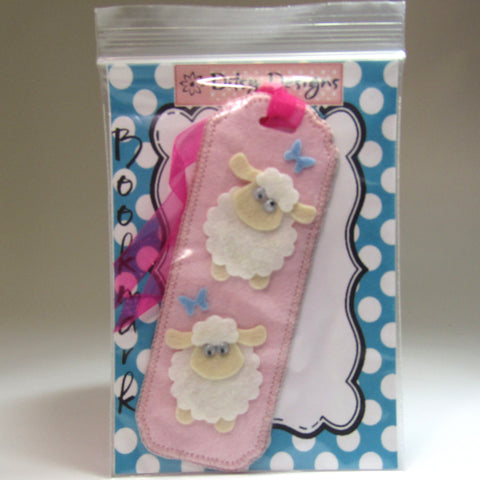Pink Felt Sheep Bookmark, By Ditsy Designs - Parade Handmade
