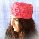 Pink Pill Box Style Wooly Hat, By Jo's Knits - Parade Handmade