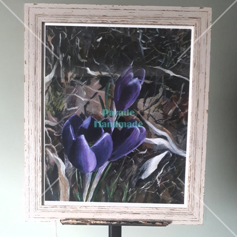 'Poetic Purple', Limited Edition Framed Print, By Nuala Brett-King - Parade Handmade