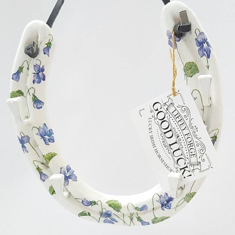 Pretty Bluebell Recycled Horseshoe, By Liffey Forge - Parade Handmade