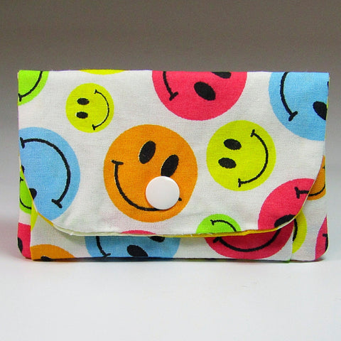 Pretty Little Happy Face Coin Purse, By JaDa Crafts Ireland - Parade Handmade
