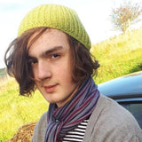 RA7 Beanie For Guys In Lime Green, By Rose Coen - Parade Handmade